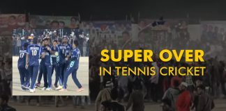 SUPER OVER in mega final in tennis cricket