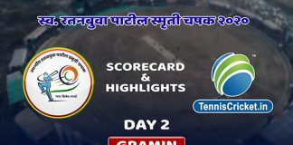 ratanbuva patil trophy 2020 day 2 highlights scorecard